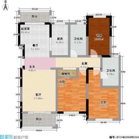 怡林花园3室0厅2卫1厨123.00㎡户型图