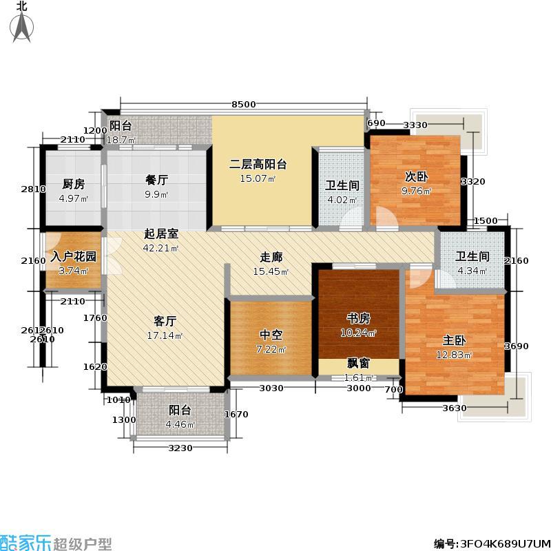 熙龙湾二期熙龙湾二期户型图5栋C做03房(6~26层)两厅三房两卫(偶数层)(15/21张)户型10室