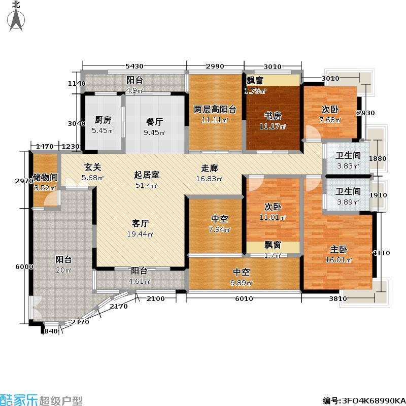 熙龙湾二期熙龙湾二期户型图两厅四房两卫(18/28张)户型10室