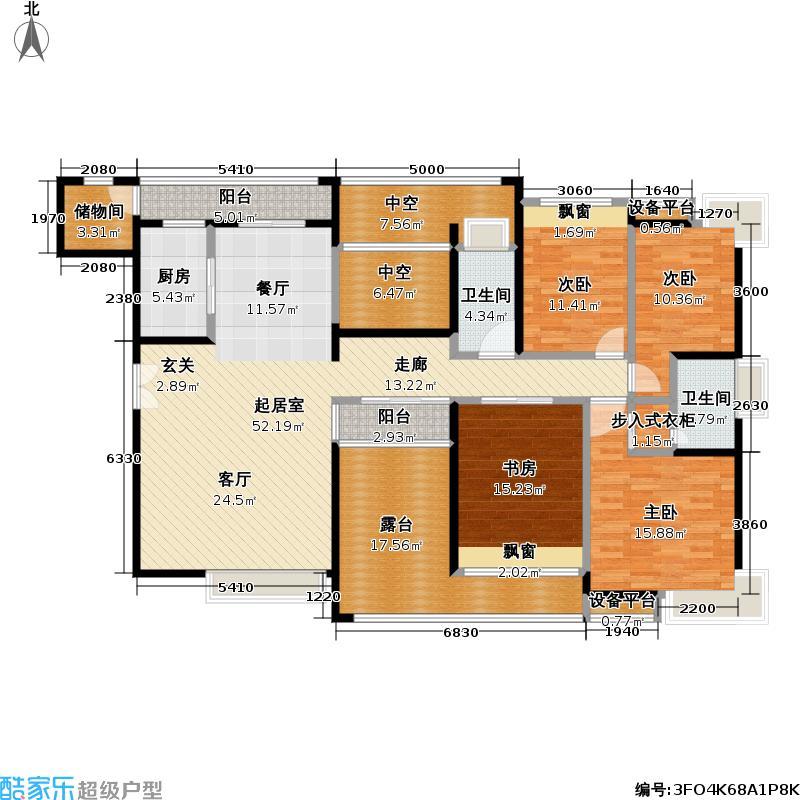 熙龙湾二期熙龙湾二期户型图四房两厅两卫(26/28张)户型10室