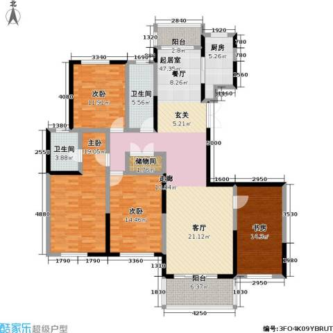 怡林花园4室0厅2卫1厨153.00㎡户型图