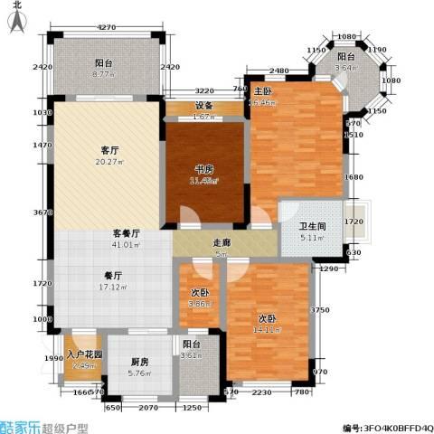 蓝光・十里蓝山 十里蓝山4室1厅1卫1厨170.00㎡户型图