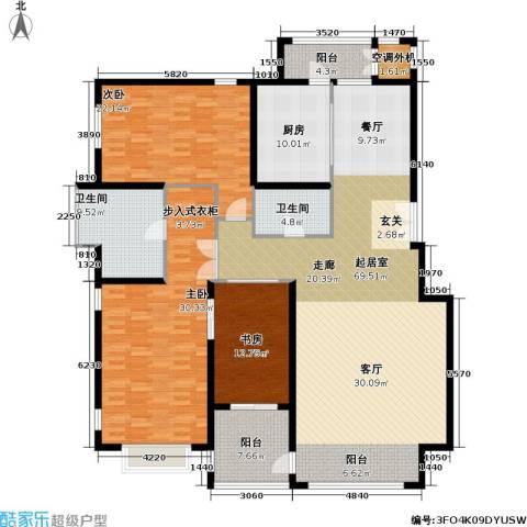 耕天下二期3室0厅2卫1厨206.00㎡户型图