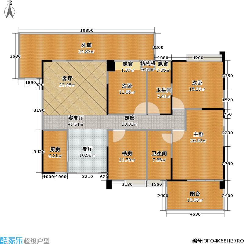 君汇新天176.00㎡君汇新天户型图四房二厅二卫(3/14张)户型10室