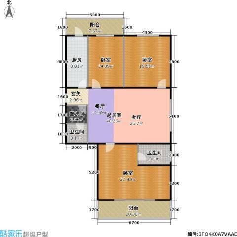 �莲馨苑(尾盘)2卫1厨159.00㎡户型图