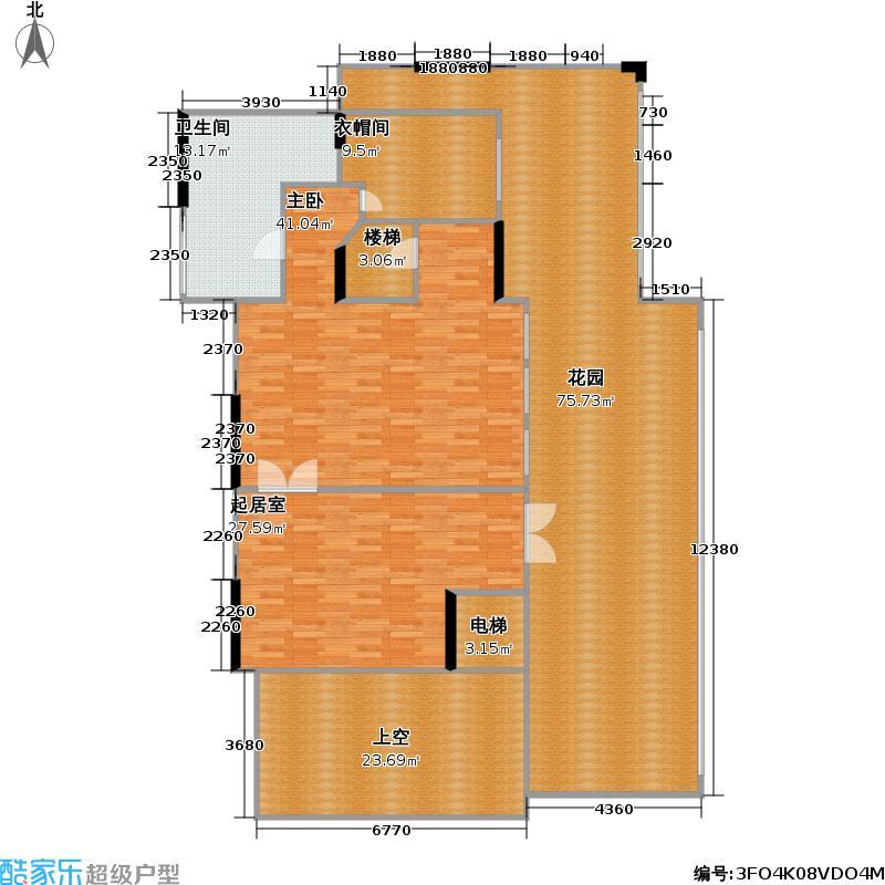 百丽湾三层复式D01、E02复式三层户型