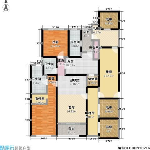 淮海晶华2室0厅3卫1厨170.00㎡户型图