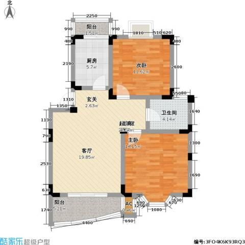 良城美景家园2室0厅1卫1厨78.00㎡户型图