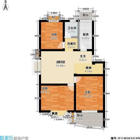 良城美景家园3室0厅1卫1厨135.00㎡户型图