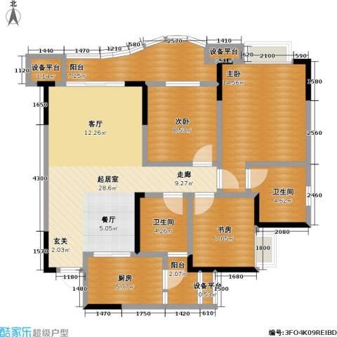 保利・康桥3室0厅2卫1厨89.00㎡户型图