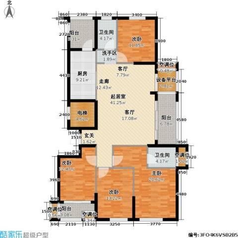 尚湖中央花园4室0厅2卫1厨202.00㎡户型图