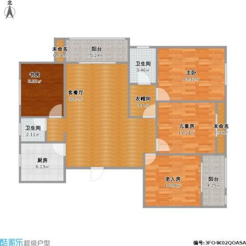长江国际机电城4室1厅2卫1厨137.00㎡户型图