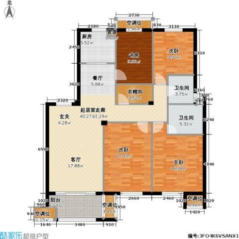 尚湖中央花园4室0厅2卫1厨172.00㎡户型图