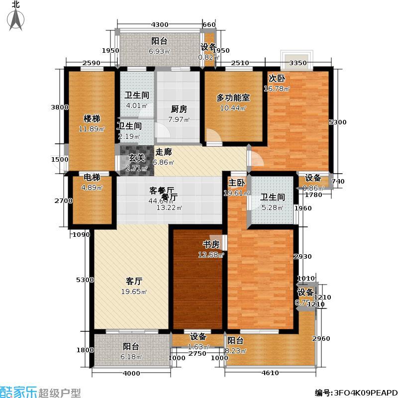 丁山桂墅园户型3室1厅2卫1厨