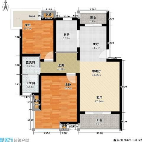 博泰景苑2室1厅1卫1厨112.00㎡户型图