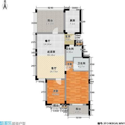 日光清城2室0厅2卫1厨105.00㎡户型图