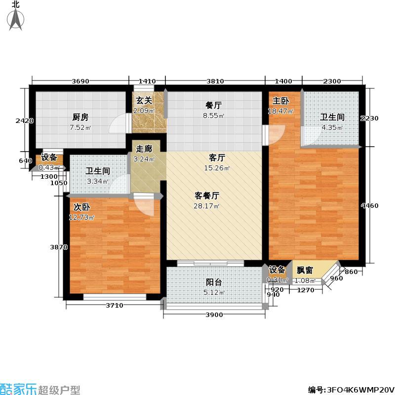 昌里花园102.00㎡房型: 二房; 面积段: 102 -102 平方米;户型