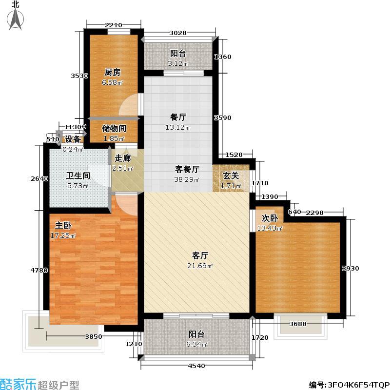 阳光高城苑2室2厅1卫106平米全南户型