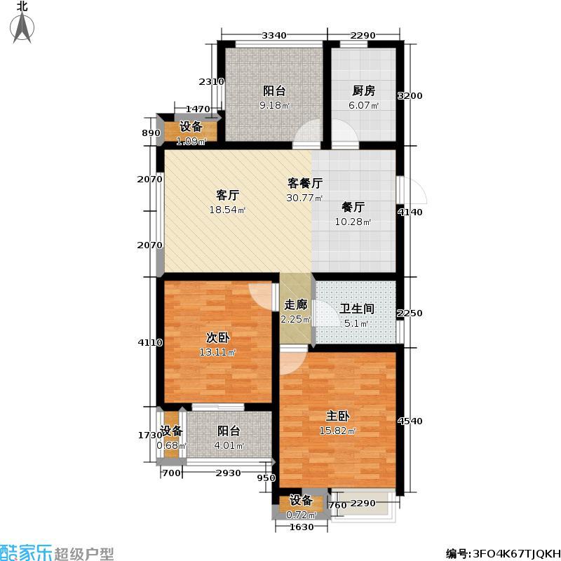 中吴雅苑+空中花园户型2室1厅1卫1厨
