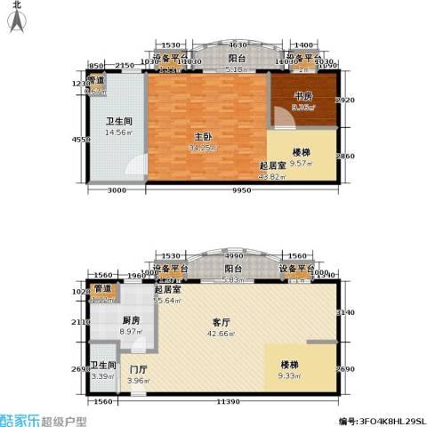 珠江绿洲1室0厅2卫1厨152.72㎡户型图