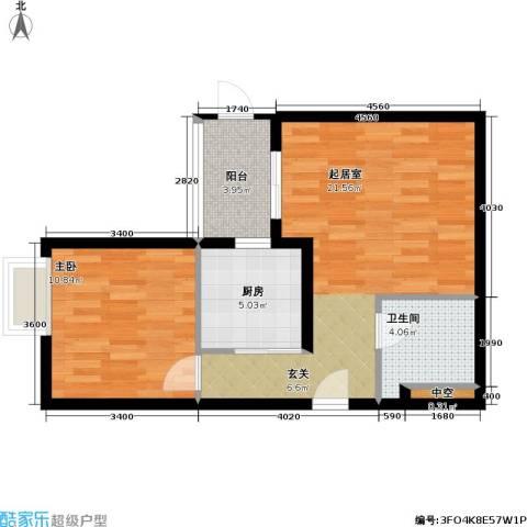 官苑八号1室0厅1卫1厨64.00㎡户型图
