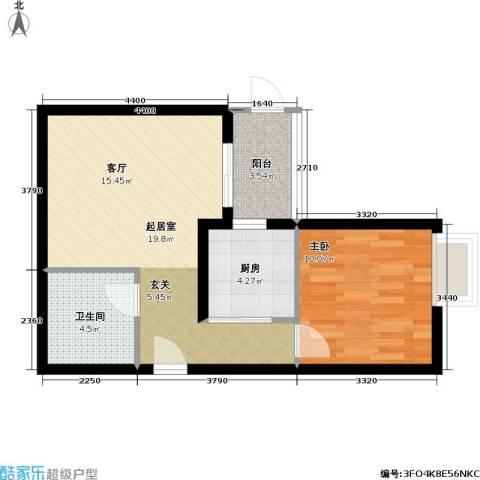 官苑八号1室0厅1卫1厨65.00㎡户型图