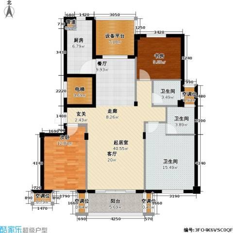 尚湖中央花园2室0厅3卫1厨161.00㎡户型图