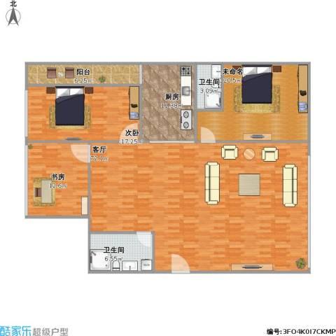 丰泽湖山庄2室1厅2卫1厨197.00㎡户型图