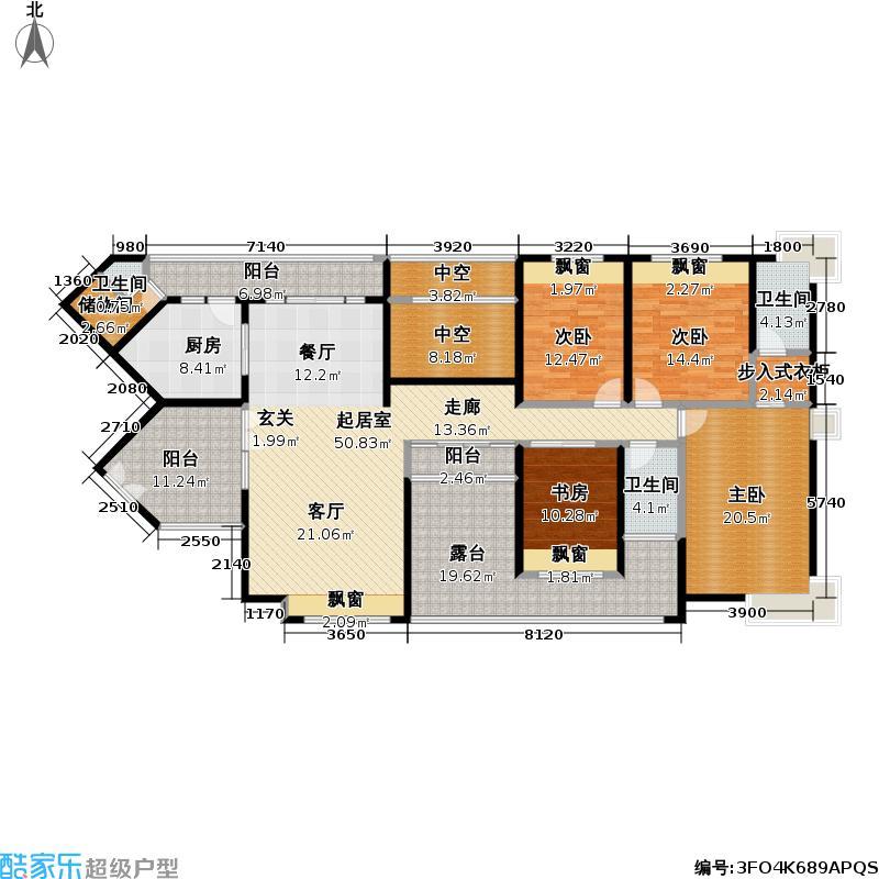 熙龙湾二期熙龙湾二期户型图两厅四房两卫(19/28张)户型10室