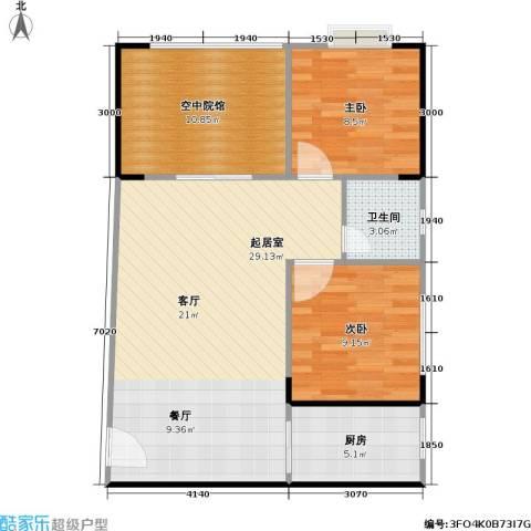 盛景郦城 昌福・盛景郦城2室0厅1卫1厨78.00㎡户型图