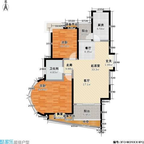 静安凤凰苑2室0厅1卫1厨99.00㎡户型图