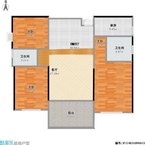 嘉福国际4室1厅2卫1厨123.00㎡户型图