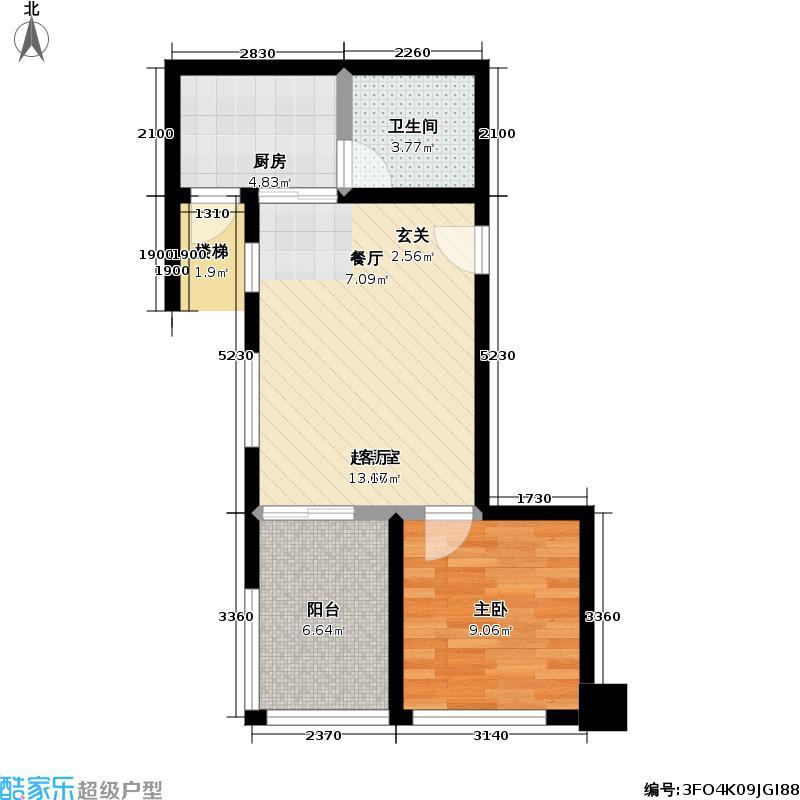 卡萨国际公寓48.15㎡房型户型