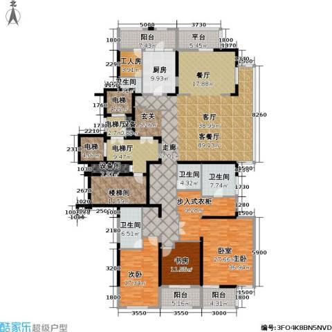 融泽府3室1厅4卫1厨289.00㎡户型图