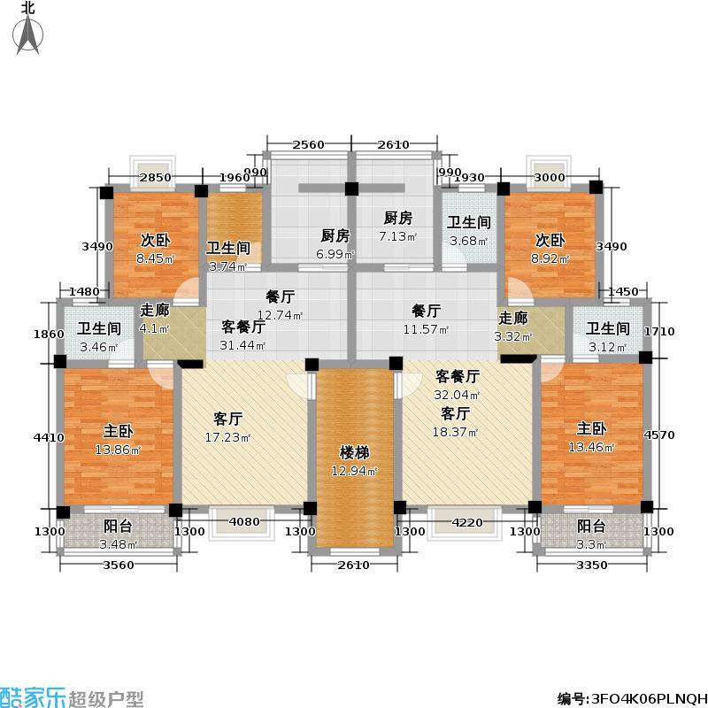 光谷・陆景苑96.70㎡房型户型