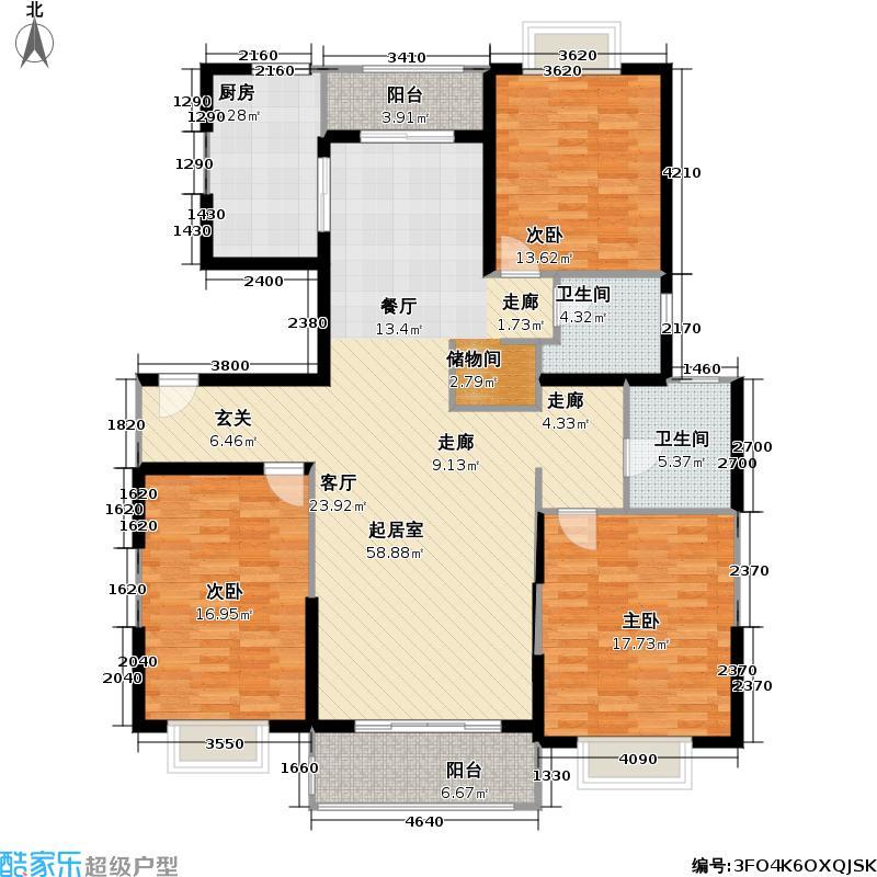 丰华家园145.00㎡房型: 三房; 面积段: 145 -145 平方米; 户型
