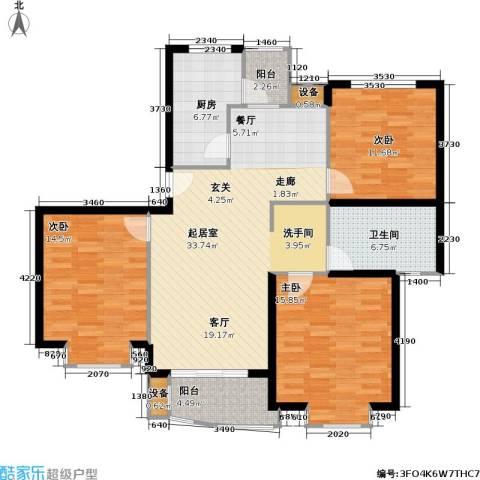龙馨嘉园一期3室0厅1卫1厨105.00㎡户型图