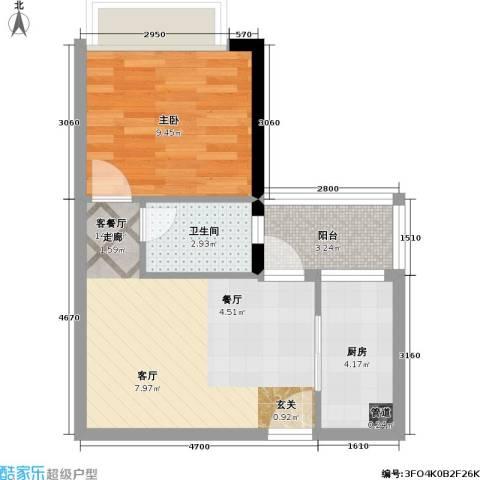 景尚雅苑1室1厅1卫1厨40.00㎡户型图