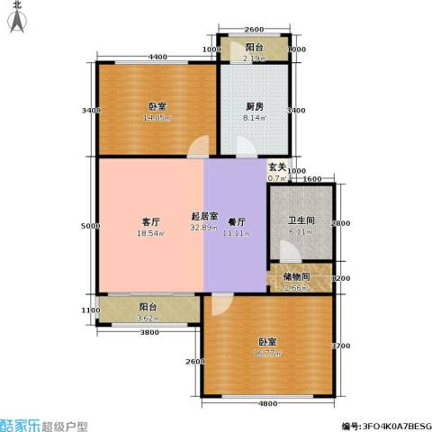 新汾阳公寓1卫1厨96.00㎡户型图