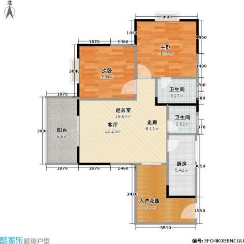 盛景郦城 昌福・盛景郦城2室0厅2卫1厨82.00㎡户型图