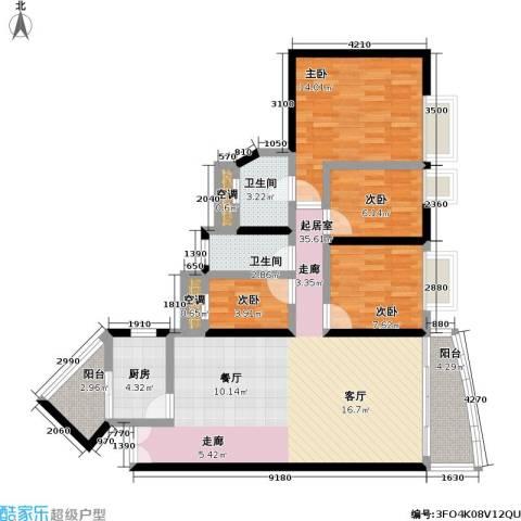 碧海蓝天明苑4室0厅2卫1厨100.00㎡户型图