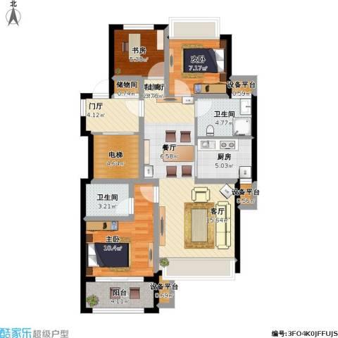 阳光城翡丽湾3室1厅2卫1厨112.00㎡户型图