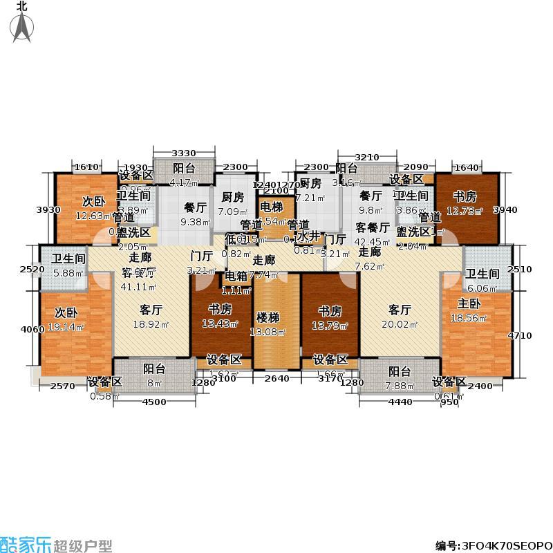望族新城126.26㎡房型: 三房; 面积段: 126.26 -136.59 平方米;户型