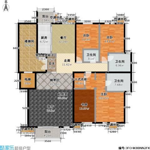 建邦华府3室0厅3卫1厨220.00㎡户型图