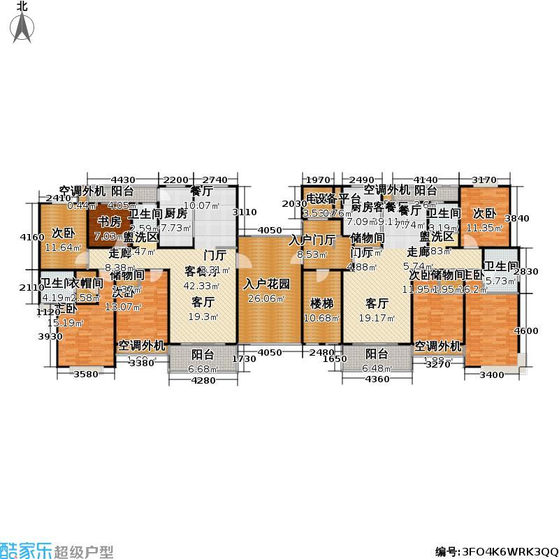 锦绣江南家园四期未命名户型7室2厅4卫2厨