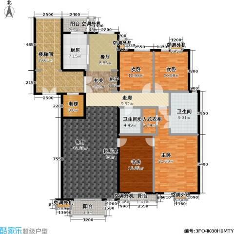 建邦华府4室0厅2卫1厨202.00㎡户型图
