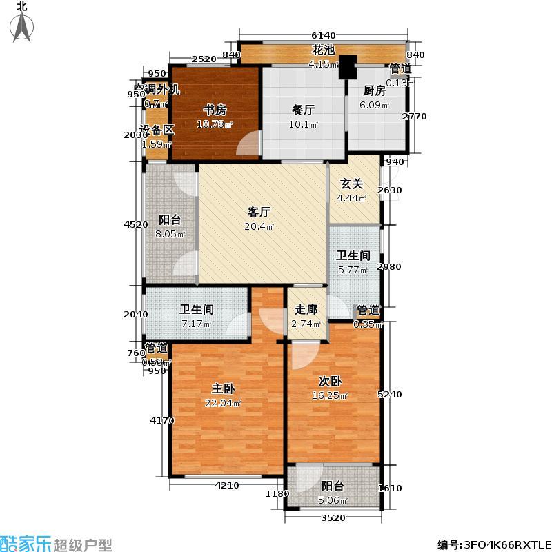 绿城・玉兰广场138.00㎡A1户型3室2厅2卫138平米户型3室2厅2卫