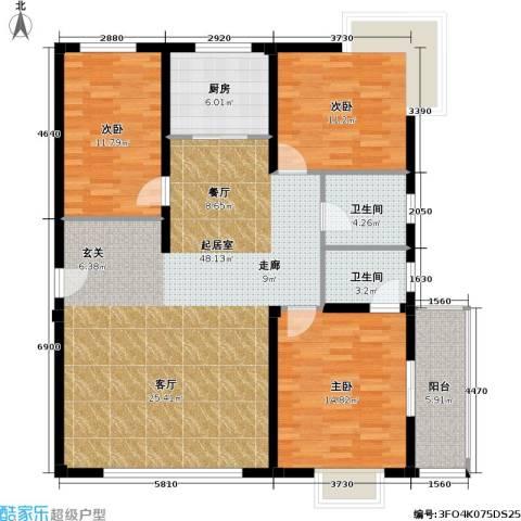 阳光花园3室0厅2卫1厨117.00㎡户型图
