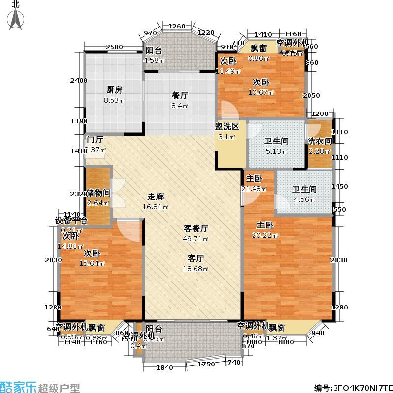 住友昌盛新苑145.01㎡房型: 三房; 面积段: 145.01 -147.67 平方米;户型