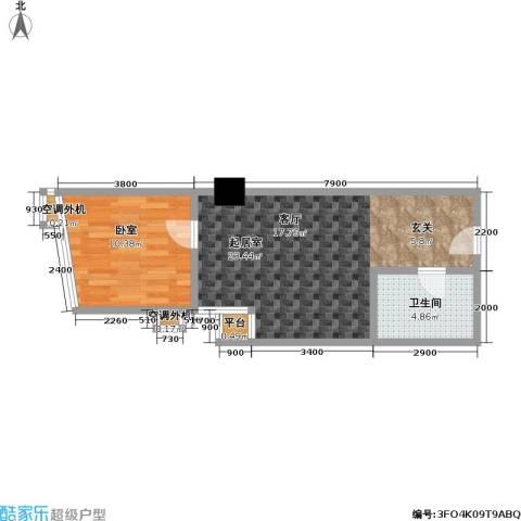 江州世纪英皇1卫0厨39.42㎡户型图